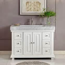 tradewinds bathroom vanities 6288wr48c 48 single sink vanity carrara white marble top