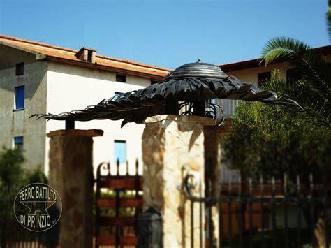 tettoie in ferro battuto per esterni tettoie in ferro battuto artigianale
