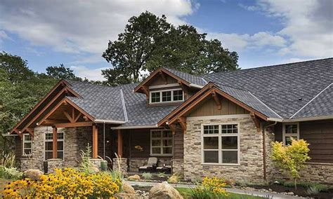Ranch Style Homes Plans by Brick Ranch Converted To Craftsman Rustic Craftsman Ranch