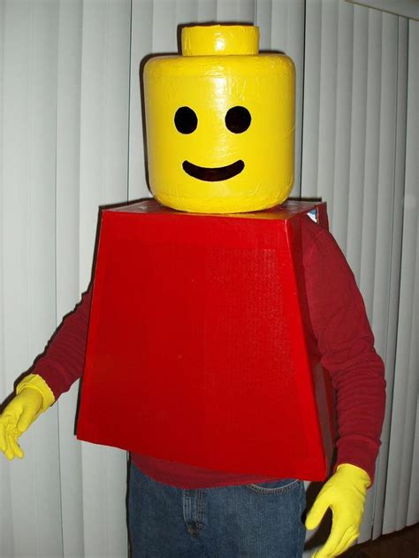 tutorial lego man diy tutorial halloween diy lego man costume