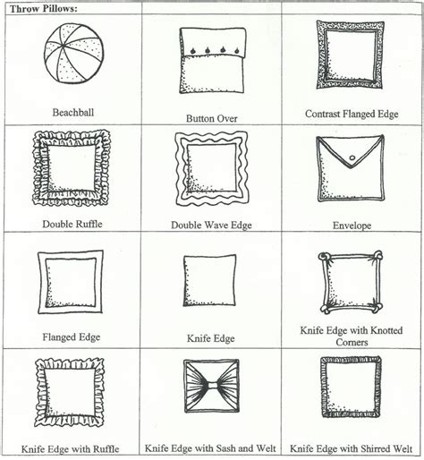 Throw Pillow Styles 217 best images about to measurements on