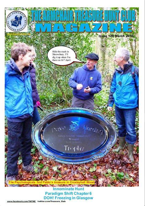 the armchair treasure hunt club newsletters 2016