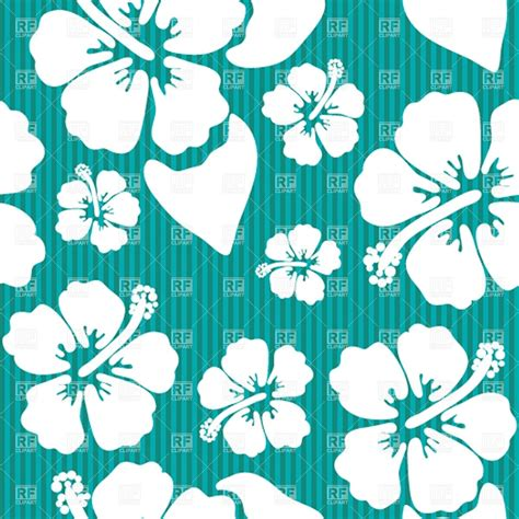 hawaii floral pattern vector seamless pattern with hawaiian hibiscus flower royalty