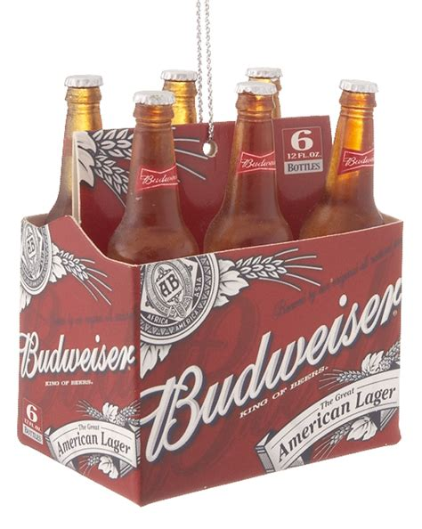 budweiser 6 pack personalized ornament