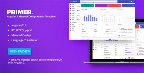 Themeforest Primer Download Angular 2 Material Design Admin Template Material Design Admin Template Free
