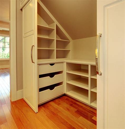 Slanted Ceiling Closet Design by Half Story Storage Attic Remodel Sloped Ceiling Closet And How To Design