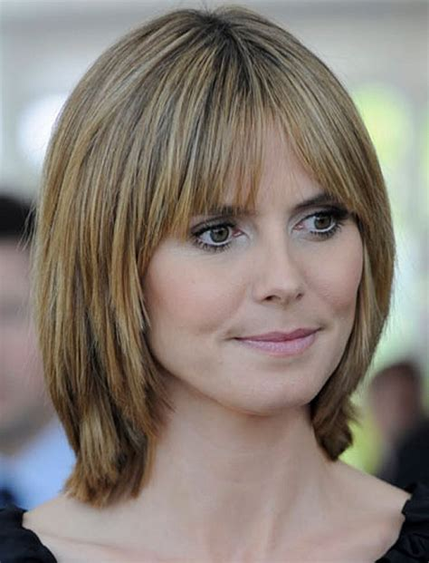 bangs shoulder length hair older women the beautiful style of medium bob hairstyles for women