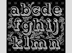 free chalkboard font alphabet | Sketchy hand drawn font ... Lowercase Graffiti Bubble Letters