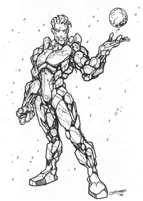 marvel iceman coloring pages iceman 2 superheroes printable coloring pages