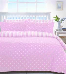 pink white spot or stripe quilt duvet girls bedding