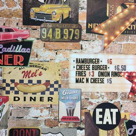 Route 66 Wallpaper Mural arthouse american diner wallpaper
