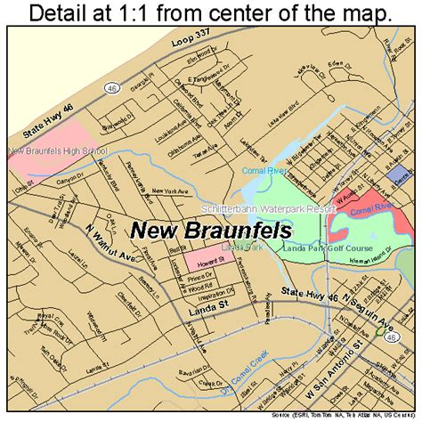 where is new braunfels texas map new braunfels texas map 4850820