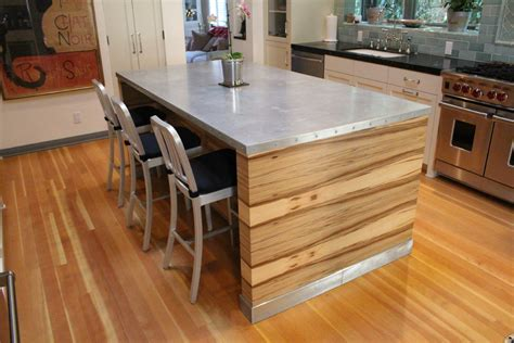 countertop ideas splashy zinc countertops look los angeles contemporary