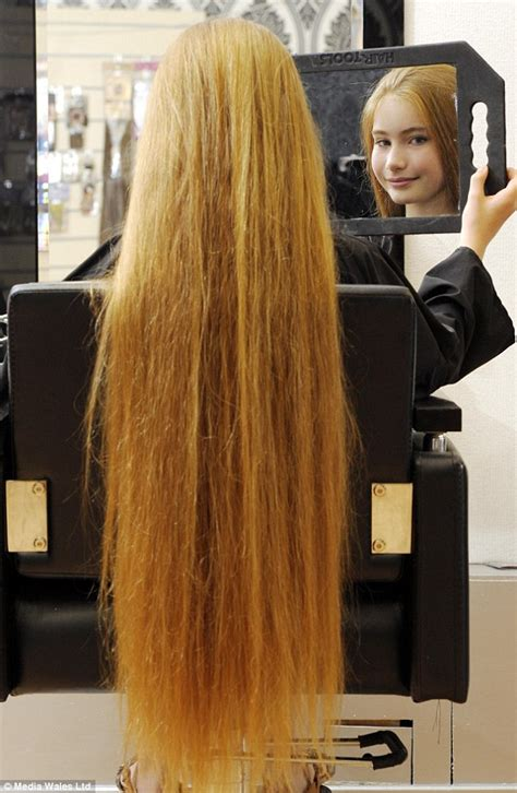 normal hair length for two year old the real life rapunzel katy white from wales who has 3ft
