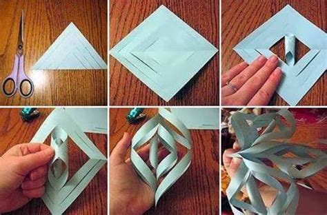 How To Make 3d Paper Snowflakes Step By Step - to make pretty paper craft 3d snowflakes step by step diy