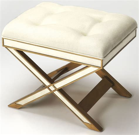 marlo mirror gold vanity stool 1253353 butler