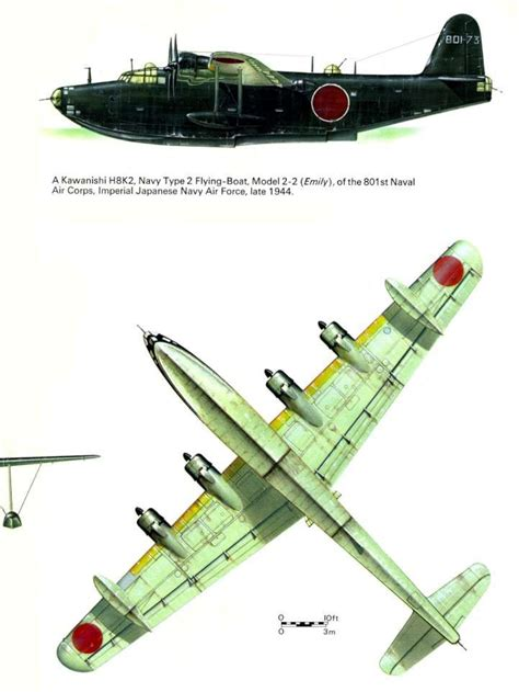 kawanishi flying boat 65 best planes kawanishi h8k images on pinterest