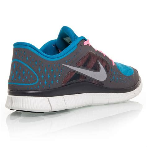 nike free run 3 mens running shoes charcoal blue pink