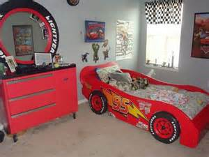 Lighting Car Bed Lightning Mcqueen Race Car Bed And A Toolbox Dresser W