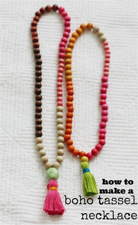 how to make boho jewelry diy try how to make a tassel necklace chic everywhere