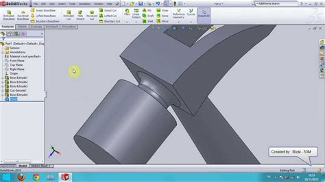 solidworks fea tutorial solidworks tutorial how to make hammer youtube