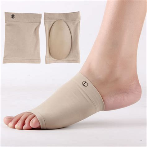 flat foot support shoes 1pair gel plantar fasciitis arch support sleeve arch socks