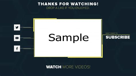 2d Outro Template Wondershare Filmora Free Download Filmora Templates Intro Outro Templates