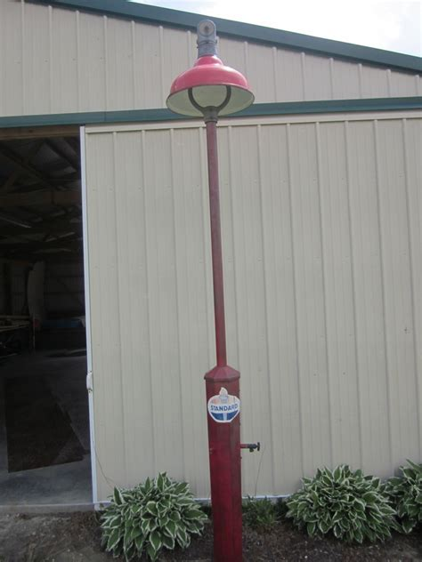 vintage gas station lights island gas station service light with water and air hook