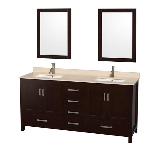 72 in double bathroom vanities sheffield 72 inch double sink bathroom vanity espresso