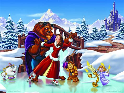 themes hd belle beauty and the beast the enchanted christmas images beauty