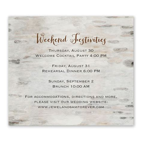 Wedding Information by For Infinity Information Card Invitations By