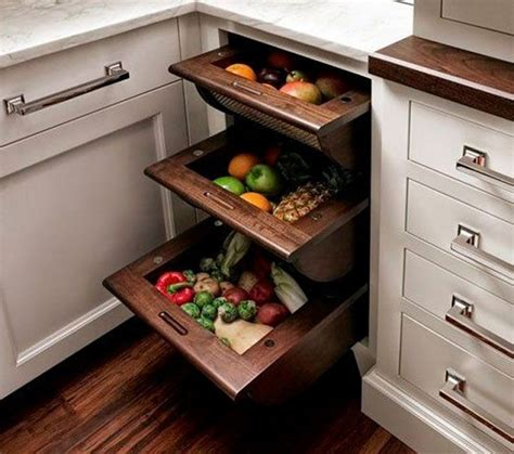 kitchen cabinet storage bins storage ideas to keep fruits and vegetables fresh home