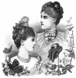 and drop plate hairstyles vintage victorian 1890s costume accessories