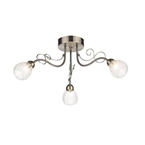 low ceiling lighting fusion 3 light antique brass low ceiling light etched