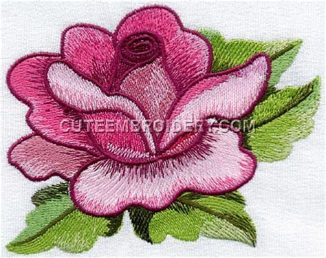embroidery design rose flower rose freeembroiderydesigns com