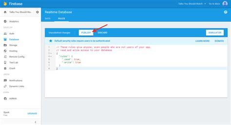 firebase rules tutorial firebase step 3 write hard coded data via the