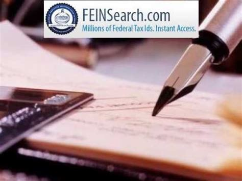 Federal Number Search Federal Tax Id Search Experts Employer Identification Number