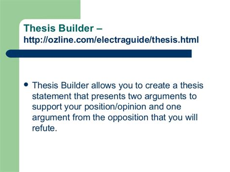 thesis builder free thesis builder