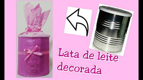 lata decorada tema unicornio diy lata de leite em p 243 decorada eva recicle para