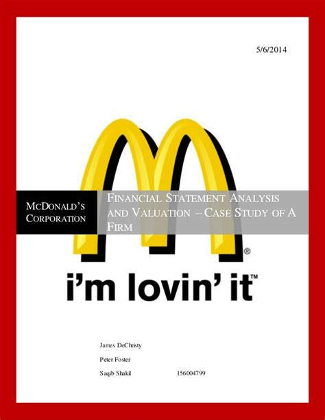 Mba Working At Mcdonalds by Fsa Project Mcdonalds V2 4