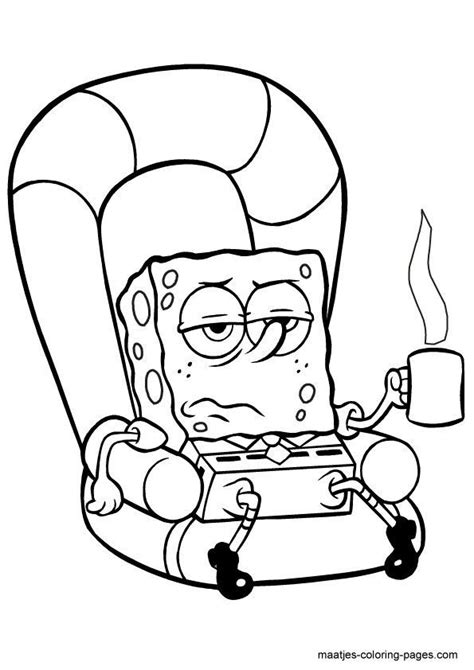 spongebob squarepants characters coloring pages az