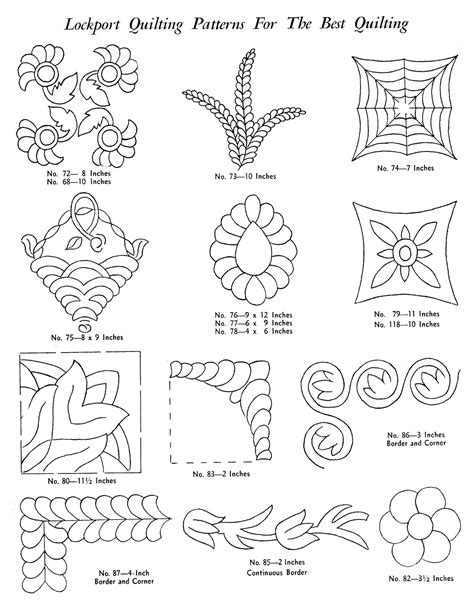 lockport hand quilting pattern catalog q is for quilter