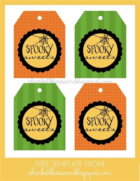free printable gift tags for halloween treats 6 best images of halloween tags printable templates