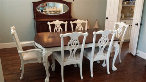 Dining Set Make Over Heath Refinishing Refinishing Dining Room Chairs