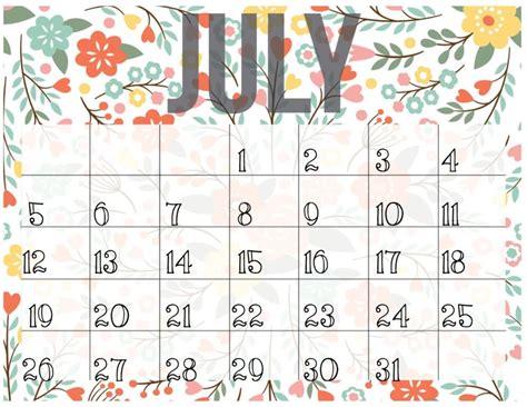 Cute June 2017 Calendar