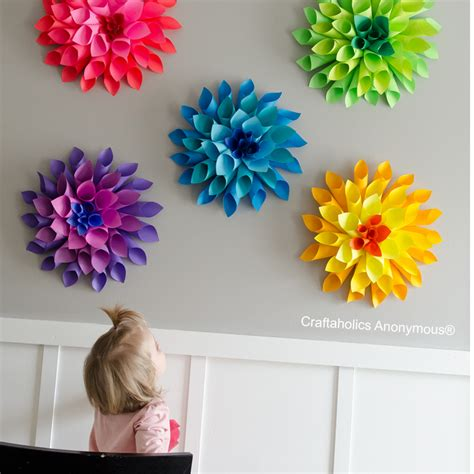 Flowers With Papers - craftaholics anonymous 174 rainbow paper dahlia flowers
