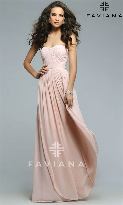 long multi  prom dress  faviana