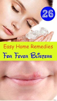 blister remedies on cold sore treatment fever