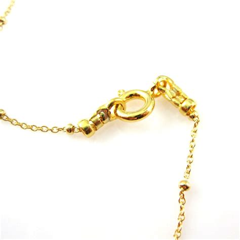 gold necklace vermeil sterling silver chain necklace