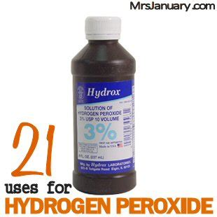 can i use hydrogen peroxide on my 21 uses for hydrogen peroxide